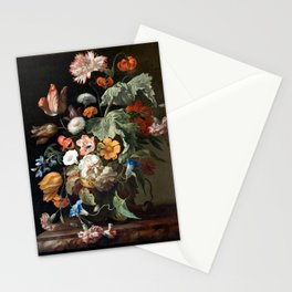 Still Life Flower Painting by Rachel Ruysch Stationery Cards
