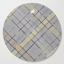 Retro pastel plaid pattern N7 Cutting Board