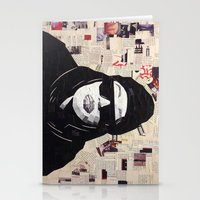 aaliyah Stationery Cards featuring Chopped and Glued - Aaliyah by ByReenaRae