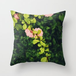 Blooming Cherry Tree Throw Pillow