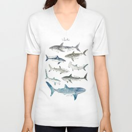 Sharks Unisex V-Ausschnitt
