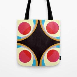 Colorful Retro Shapes Tote Bag