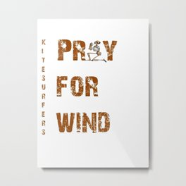 Kitesurfers Pray for Wind Metal Print