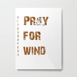 Kitesurfers Pray for Wind Metal Print