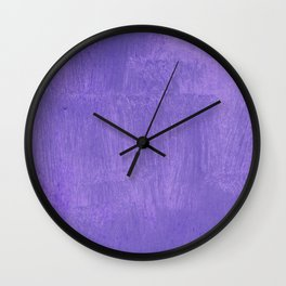 Violet Painted Wall Texture Wall Clock