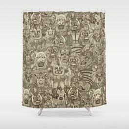gargoyles vintage Shower Curtain
