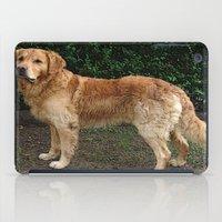 golden retriever iPad Cases featuring Golden Retriever by Hyperhamster