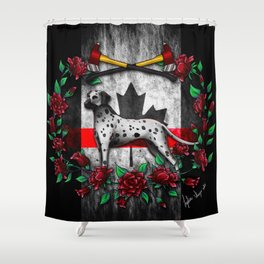 Thin Red Line Canada Version Shower Curtain