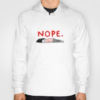 cool Hoodies featuring Nope by gemma correll
