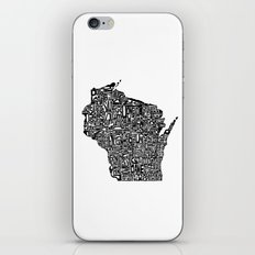 Typographic Wisconsin iPhone & iPod Skin