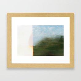 between paris and london Framed Art Print
