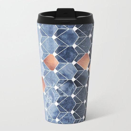 Copper Diamonds Metal Travel Mug