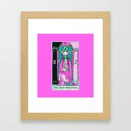 2. The High Priestess- Neon Dreams Tarot Framed Art Print