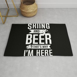Skier Ski Team Skiing Beer Lover Drinking Gift  Rug