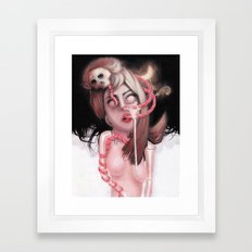 苦悩 Framed Art Print
