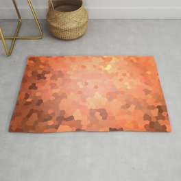 Abstract mosaic autumn landscape Rug