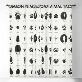 Common Animal Tracks Blackout Curtain