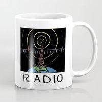 radio Mugs featuring Radio by Ken Coleman