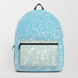 Mermaid Sea Foam Ocean Ombre Glitter Backpack