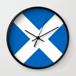 Scotland: Scottish Flag & Scotland Wall Clock