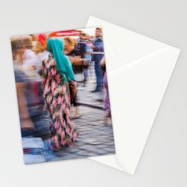 Turkish woman wearing colorful clothes Stationery Cards