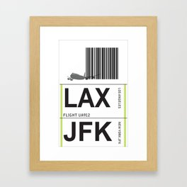 jetset:  lax to jfk Framed Art Print