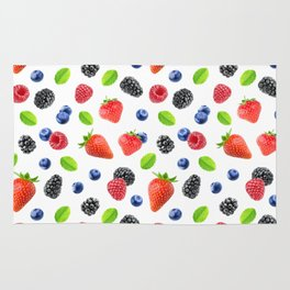 Fresh berries pattern Rug