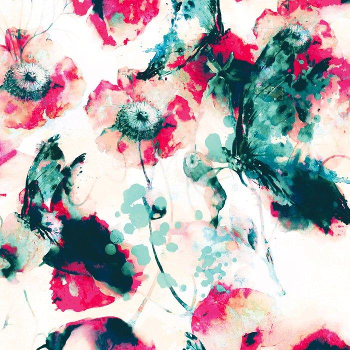 Poppies & Butterflies Leggings