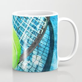 Tennis print work vs 4 Coffee Mug