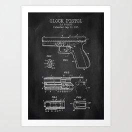 Glock Pistol Art Print