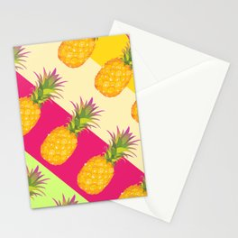 Tropical Pineapples Stationery Cards