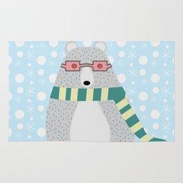 Bear in snow Rug