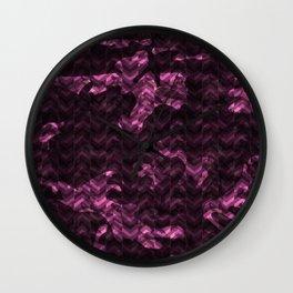 camouflage herringbone Wall Clock