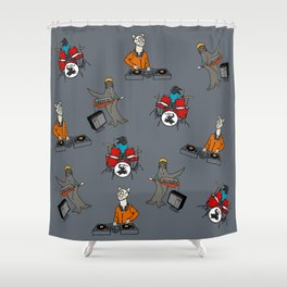 Flock of Gerrys Band Print Shower Curtain