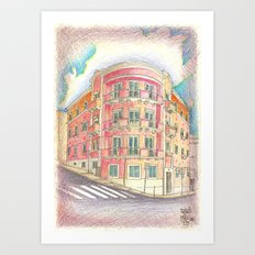 architecture of the 50's Art Print