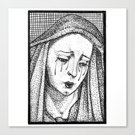 Crying Virgin Canvas Print