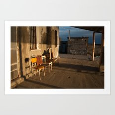 LONELY CHAIRS #7 Art Print