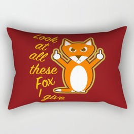 Look at all these Fox I give Rectangular Pillow
