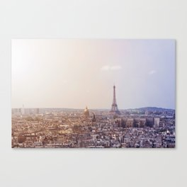 Cityscape of Paris, France. View of the Eiffel tower. Canvas Print