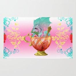 Strawberry Iced Tea Dragon Rug