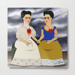 Frida Kahlo - Ladies Fridas Metal Print