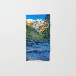 River Bed Sunrise // Long Exposure Landscape Photograph in the Colorado Rocky Mountains Hand & Bath Towel
