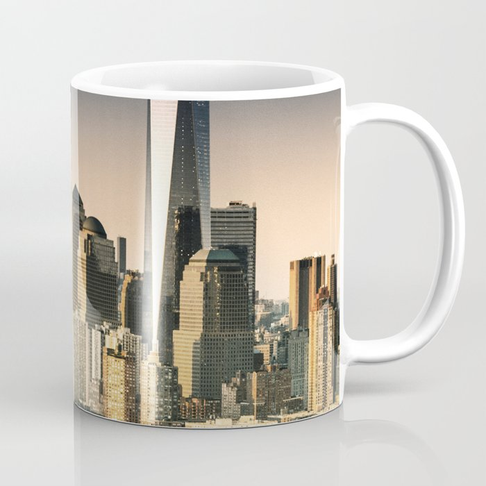 nyc skyline at dusk Coffee Mug