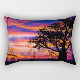 Mellow Yellow Sunset thru Boab Rectangular Pillow