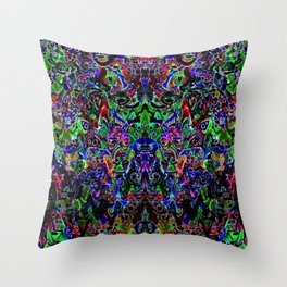 Rainbows in the Dark Throw Pillow