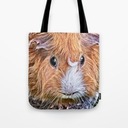 Painted Guinea Pig 5 Tote Bag