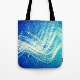 Linear Flow2-Blue Gradation Tote Bag