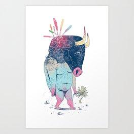 Mr.Minotaur Art Print