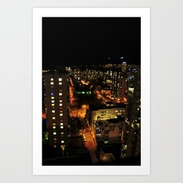 lost in the city. Art Print