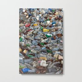 pollution by plastic bottles Metal Print